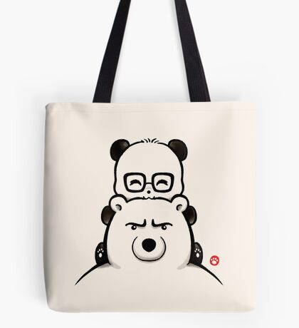 Panda And Polar Bear Tote Bag