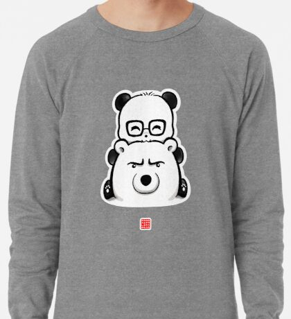 Panda And Polar Bear Lightweight Sweatshirt