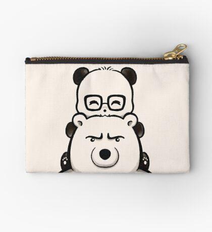 Panda And Polar Bear Zipper Pouch