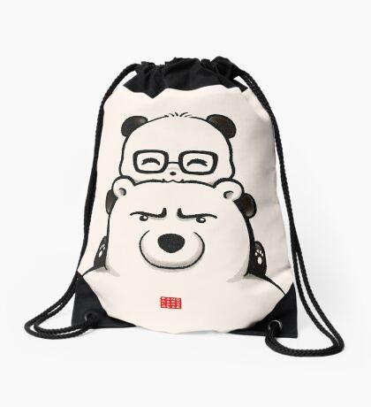 Panda And Polar Bear Drawstring Bag