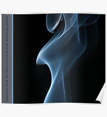 Smoky blues Silk Poster