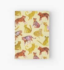 Tigers and Leopards Africa Savannah Hardcover Journal