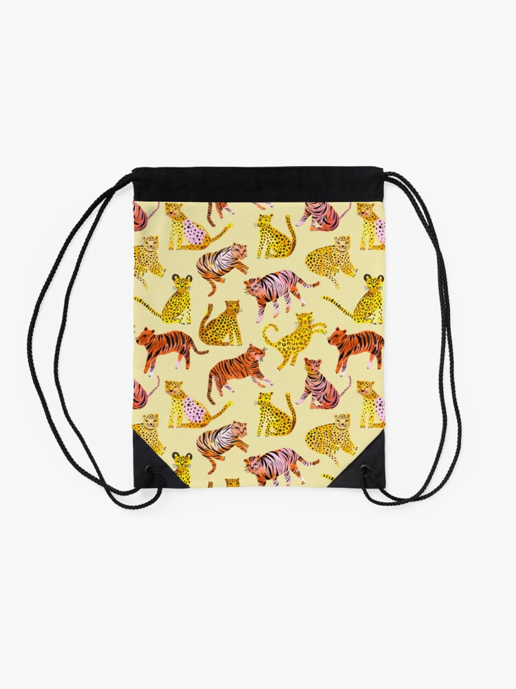 Alternate view of Tigers and Leopards Africa Savannah Drawstring Bag