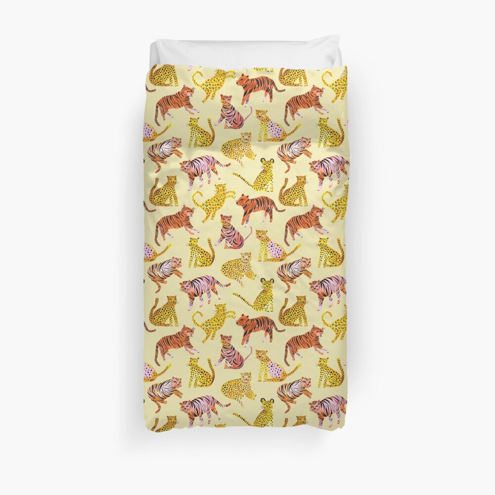 Tigers and Leopards Africa Savannah Duvet Cover