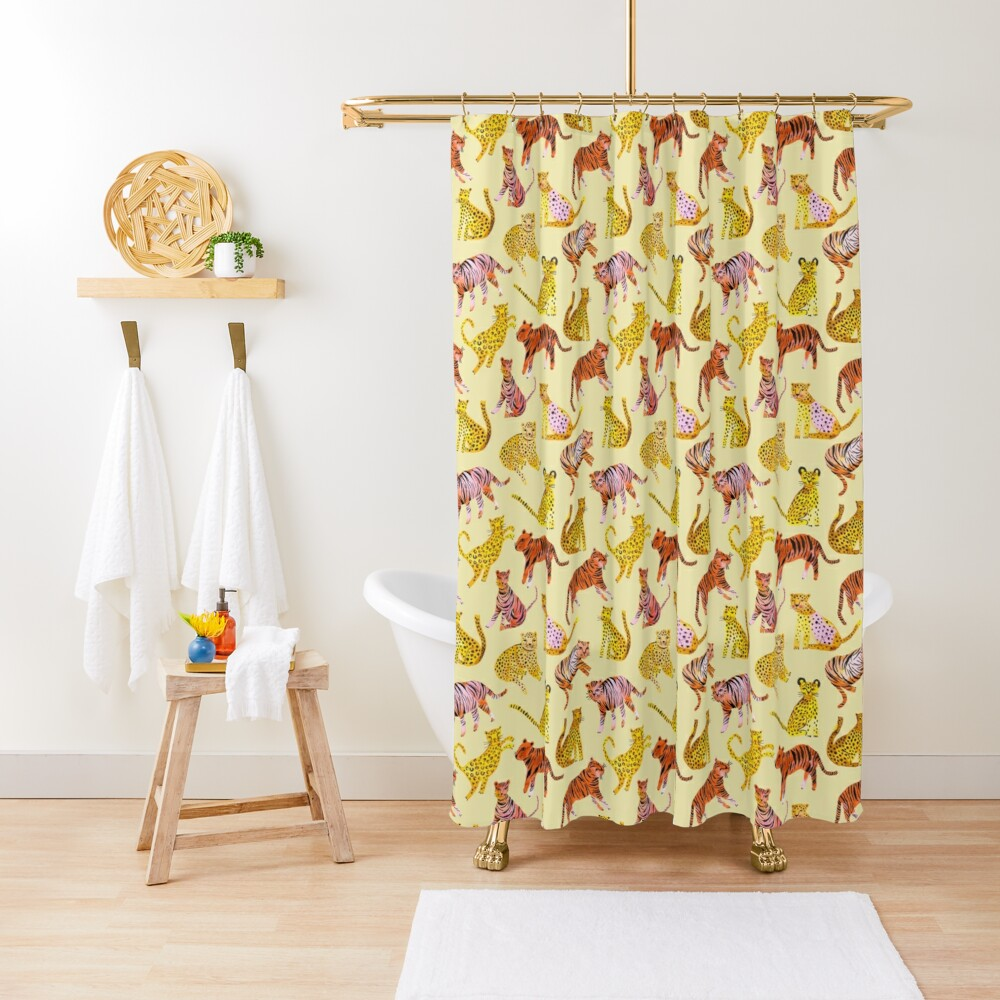 Tigers and Leopards Africa Savannah Shower Curtain