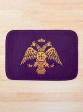 Byzantinische Adler-Symbol-Flagge Badematte