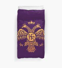 Byzantine Eagle Symbol Flag Duvet Cover