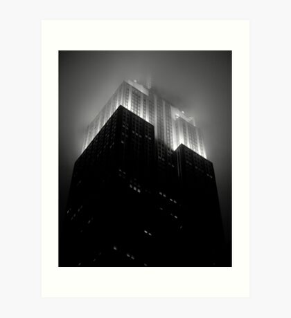 Empire State Building by night Art Print