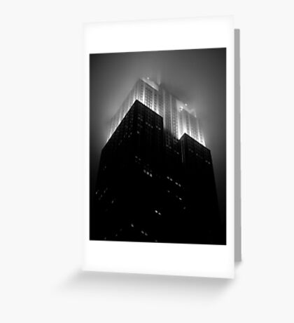 Empire State Building by night Greeting Card