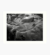 Dark Lake Rocks Art Print