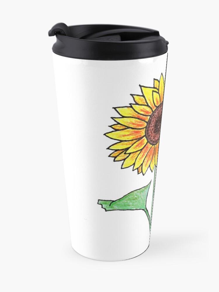 Alternate view of Sunflower Travel Mug