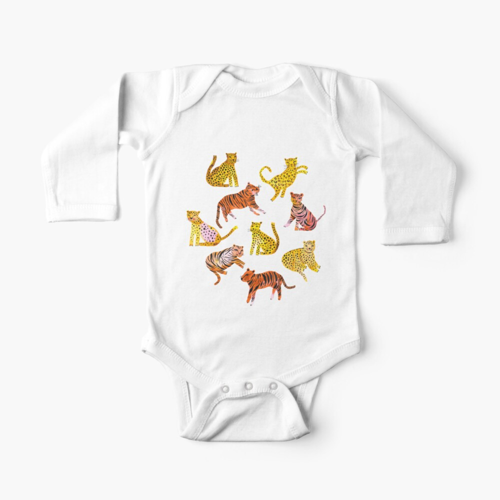 Tigers and Leopards Africa Savannah Baby One-Piece