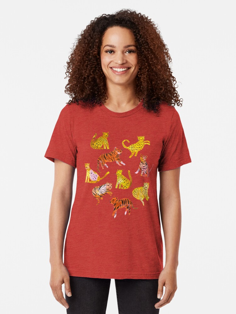 Alternate view of Tigers and Leopards Africa Savannah Tri-blend T-Shirt