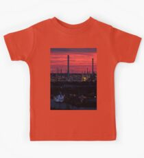 Rotterdam Harbour Skyline at Sunset, from Euromast Kids Tee