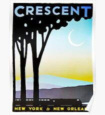 Crescent New York to New Orleans Vintage Railway Travel Poster