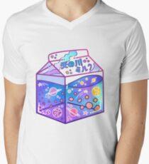 Milchstraße-Milch-Karton T-Shirt mit V-Ausschnitt