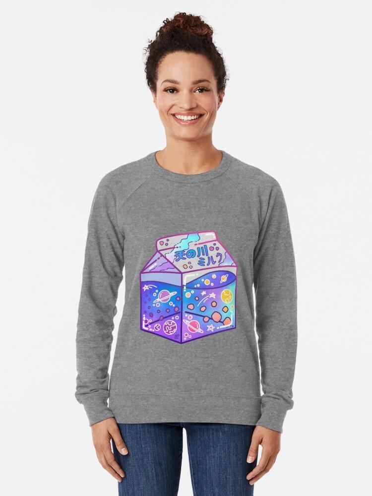 Alternate view of Milky Way Milk Carton Lightweight Sweatshirt