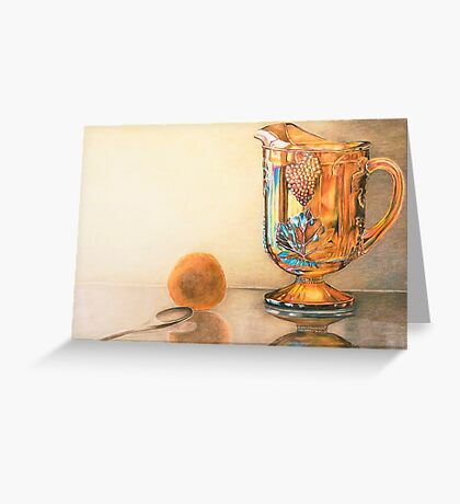 Mom's Ornage Juice Pitcher Greeting Card