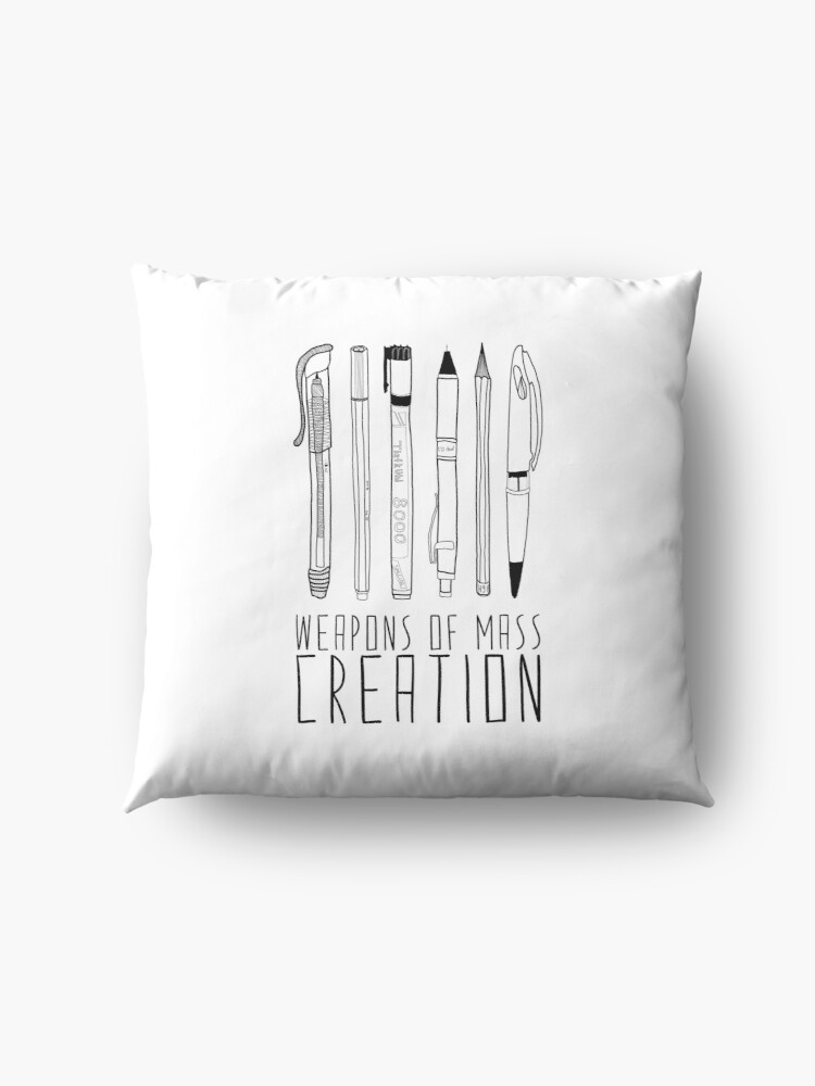Alternate view of Weapons Of Mass Creation Floor Pillow