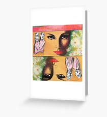 Two Sides of Eve Greeting Card