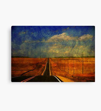 The long road to Santa Fe NM Canvas Print
