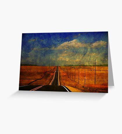 The long road to Santa Fe NM Greeting Card