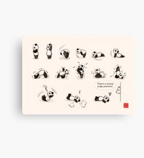 That's a Funny Yoga Position Canvas Print