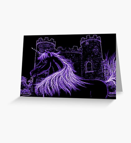 spirit purple Greeting Card