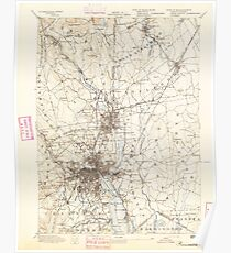 Massachusetts  USGS Historical Topo Map MA Providence 352968 1894 62500 Poster