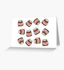 Cute Tumblr Nutella Pattern Greeting Card