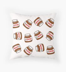 Cute Tumblr Nutella Pattern Throw Pillow
