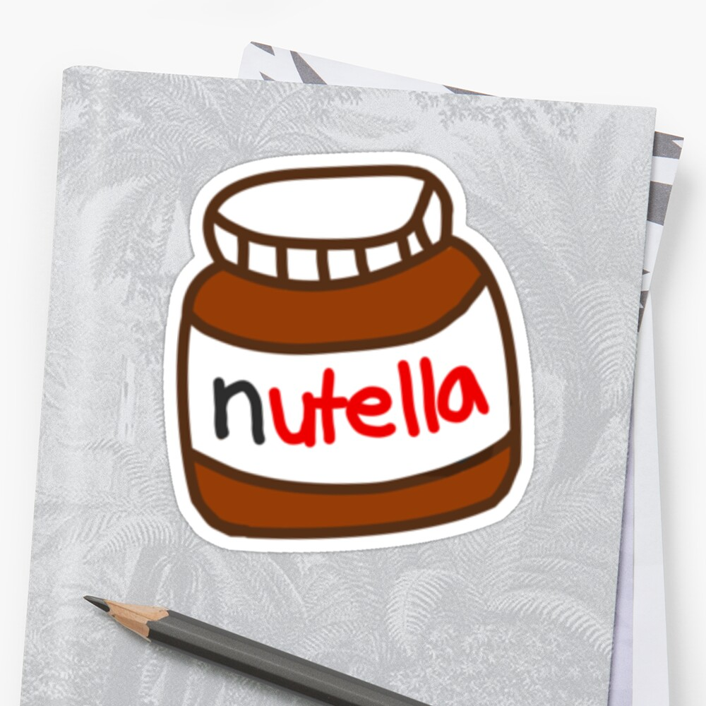 "Cute Tumblr Nutella Pattern"" Stickers by deathspell 
