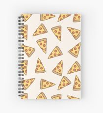 Cute Tumblr Pizza Pattern Spiral Notebook