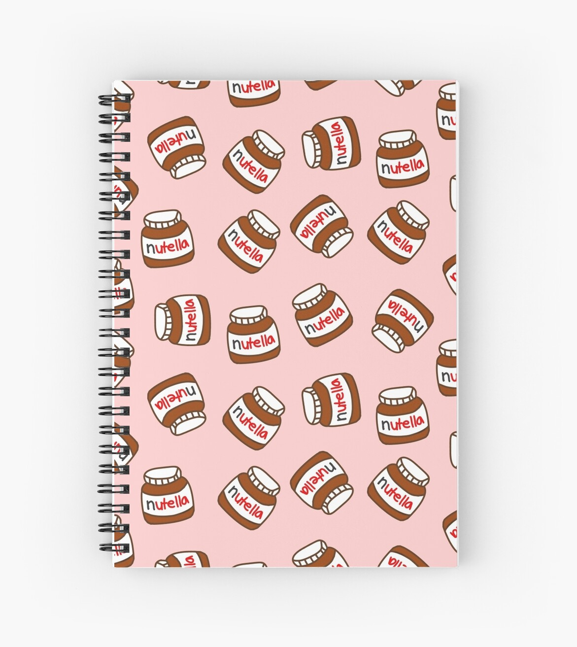 cute tumblr nutella pattern spiral notebooks by deathspell redbubble