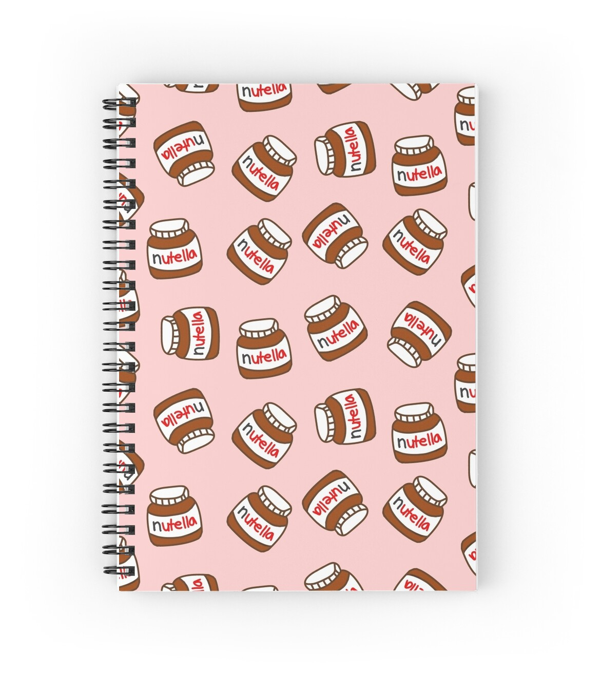 cute tumblr nutella pattern spiral notebooks by