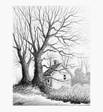 Winter Moments - Conté Drawing Photographic Print