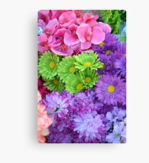 Colorful spring flowers Canvas Print