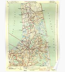 Massachusetts  USGS Historical Topo Map MA Orleans 352028 1944 31680 Poster