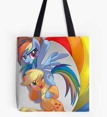 Lovewins with Rainbow Dash and AJ Tote Bag