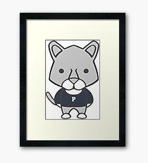 Lion Mascot Chibi Cartoon Framed Print