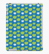 Tulips-blue iPad Case/Skin