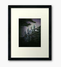 Dark fairytale castle Framed Print