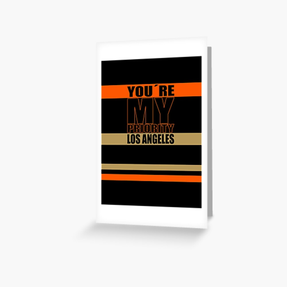 Los Angeles You are My priority fans sport Grußkarte