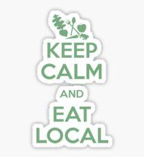 Eat Local Sticker