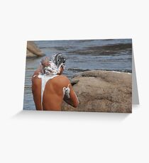 River Cleansing Greeting Card