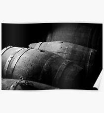 Old wine kegs Poster