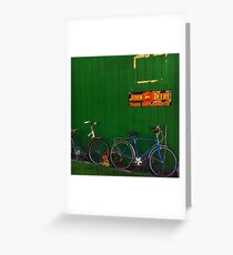 Old Farm Bicycles Greeting Card