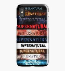 Supernatural intro seasons 1-10 iPhone Case/Skin