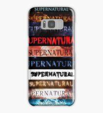 Supernatural intro seasons 1-10 Samsung Galaxy Case/Skin