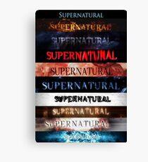 Supernatural Intro Jahreszeiten 1-10 Leinwanddruck